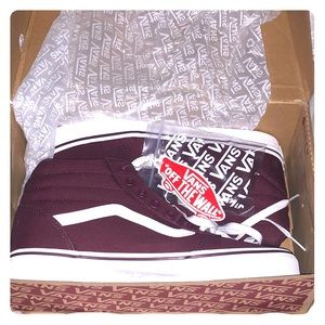Vans High Top Maroon/ Burgundy Ward Hi Sneakers